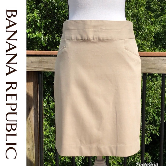 Banana Republic Dresses & Skirts - Banana Republic Khaki Skirt